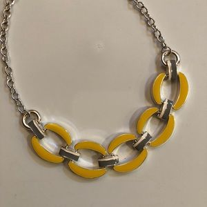Jewelry - Yellow Gray & White Reversible Statement Necklace